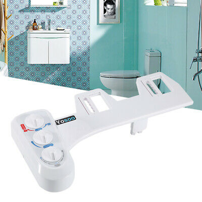Warm/Cold Water Luxe Bidet Toilet Seat Spray Self-Cleaning Nozzles For Bathroom