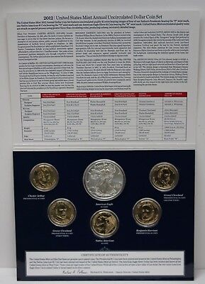 2012 United States Mint Annual Uncirculated 6 Dollar Coin Set 89078