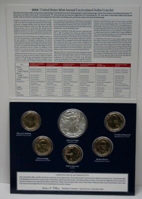 2014 United States Mint Annual Uncirculated 6 Dollar Coin Set 89080
