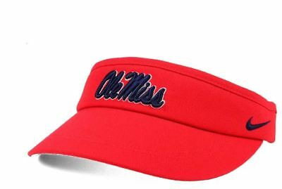low cost b384f fdbbb Ole Miss Rebels Nike Performance Dri Fit Visor Hat Cap