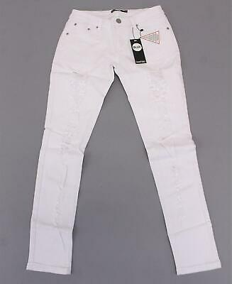 a3a6e0b7028f Boohoo Women's Full Length Mid Rise Carly Ripped Jeans KB8 White US:6 x 29