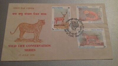 Nepal First Day Cover. 1975 Wild Life Conservation Series.