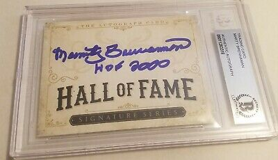 MARTY BRENNAMAN Signature Card AUTO signed BAS Beckett Authentic Autographed
