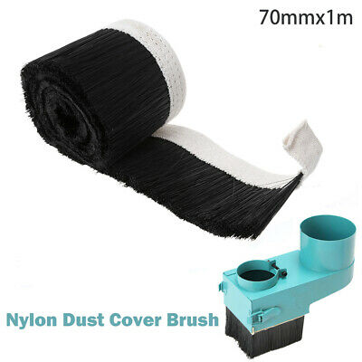 70mm*1m Vacuum Cleaner Engraving Machine Dust Covers Nylon Brush for CNC Router