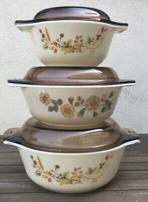 Vintage Pyrex Casserole Dish Part Of The St Michael Range X 3