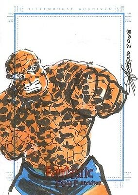 Fantastic Four Archives SketchaFEX Sketch Card of The Thing - from Rittenhouse