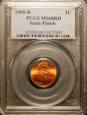 2005-D Lincoln Cent PCGS MS68 Red Satin Finish #3905 Free Shipping!