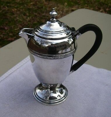 Nice Vintage SILVERPLATE LIDDED MILK JUG-Urn Form-Marked VICTORIAN PLATE