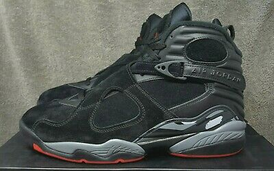 f5dd67ad5addd3 Nike Air Jordan 8 VIII Retro Black Cement Bred Gym Red Grey (305381-022