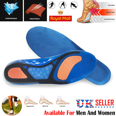 Cfr Work Boots Orthotic Foot Arch Flat Support Heel Shoe Inserts Gel Insoles Hg