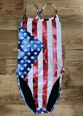 c53a2213d0 JOLYN 26 28 Tie BACK Jackson II 2 SWIMSUIT Swim AMERICANA Rare USA Flag SOLD  Out