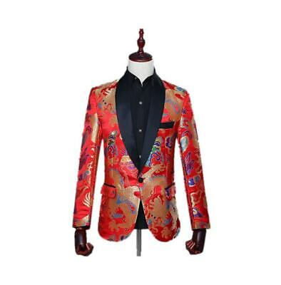 Bridegroom shawl collar Chinese style suit Singer performance Coat formal jacket