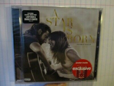 A STAR IS BORN SOUNDTRACK-TARGET EXCLUSIVE CD w/ POSTER LADY GAGA BRADLEY COOPER