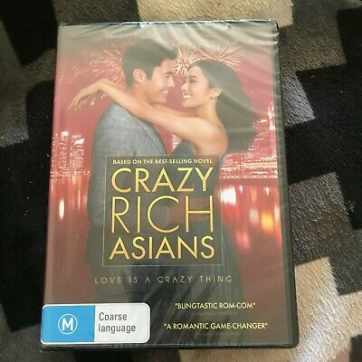 New, Wrapped Dvd. Crazy Rich Asians Dvd.