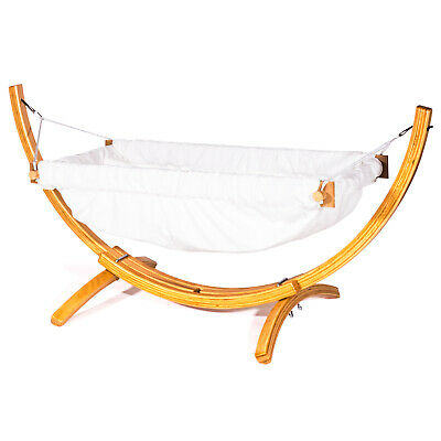 Baby or toddler organic raw fabric cradle swing hammock for indoor or outdoor