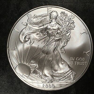 2009 Uncirculated American Silver Eagle US Mint Issue 1oz Pure Silver #H477