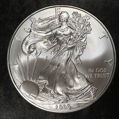2009 Uncirculated American Silver Eagle US Mint Issue 1oz Pure Silver #H475