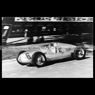 TAZIO NUVOLARI GRAND PRIX SUISSE 1938 #pha.029924 Photo AUTO UNION TYPE D