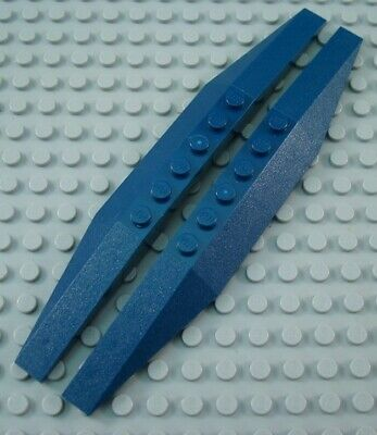 LEGO Lot of 4 Dark Blue 2x16 Triple Curved Wedges