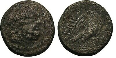 Ancient Greece 187-168 BC MACEDON THESSALONICA ZEUS EAGLE