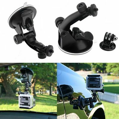 Black Car Suction Cup Mount + Tripod Adapter For Gopro HD Hero 3+ 3/2/1 Camera