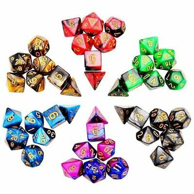 42Pcs Polyhedral Dice For DND RPG MTG Game Dungeons Dragons D4-D20 + Bag TS