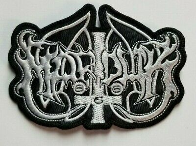 Marduk Die-Cut White Logo EMBROIDERED PATCH