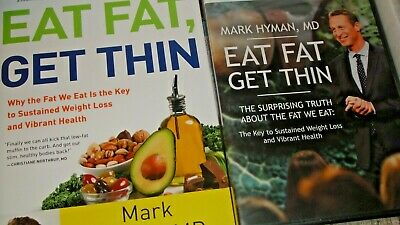 Eat Fat, Get Thin by Dr. Mark Hyman-- Deluxe Package--3 Books-2 DVD-4 CD SET-NEW