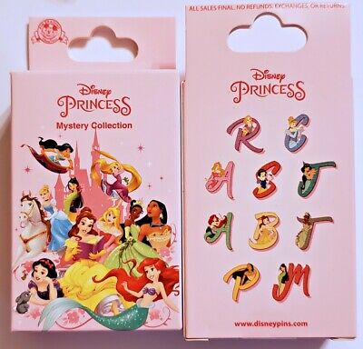 Disney Collectible Pin Pack PRINCESS ALPHABET Mystery Box of 2 Pins Sealed NEW