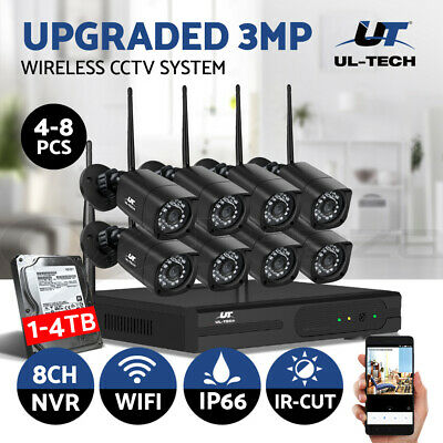 UL-tech CCTV Security System Wireless Camera Home 1080P 8CH DVR Outdoor Home IP