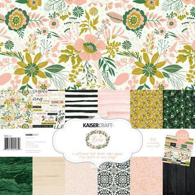 Kaisercraft 12x12 Paper Pack Fleur with BONUS Stickers