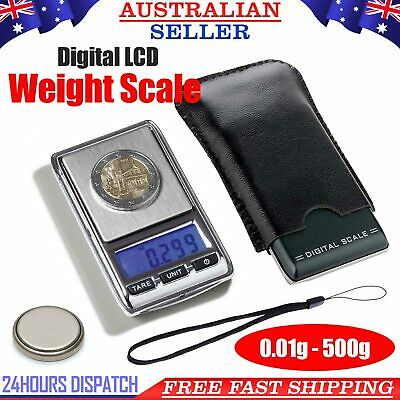 New High Precision 500g 0.01 Electronic Digital Pocket Jewellery Scales Micro MG