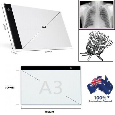 A4/A3 LED Drawing Pad Table Box Art Tattoo Stencil Board Light Tracing Dimmable
