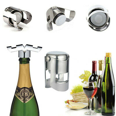 1/2x Stainless Steel Champagne Wine Bottle Stopper Plug Sealer Saver Leakproof