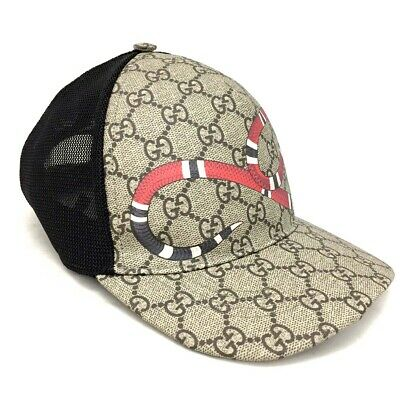 7405daf7 New Authentic GUCCI Snake GG Supreme Webbing Baseball Cap Size: L 59cm /3675