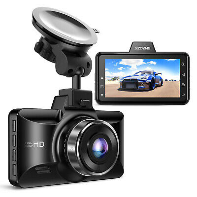 "AZDOME 4.3""inch Dual Lens Car DVR Dash Cam HD 1080P Mirror Camera Video Recorder"