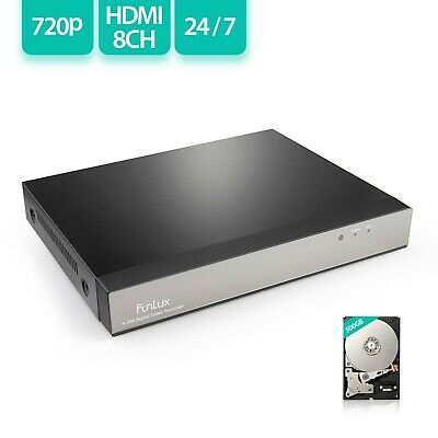 Funlux Digitial Video Recorder 8 Channel 720p HD NVR H.264 with 500GB HDD