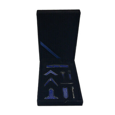 Miniature Masonic Blue Lodge Freemason Working Tool Set in Velvet Gift Box