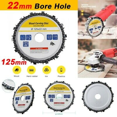 "125mm 5"" Disc Angle  Tooth Chain Saw Arbor Angle Wood Carving Cutting 1#"