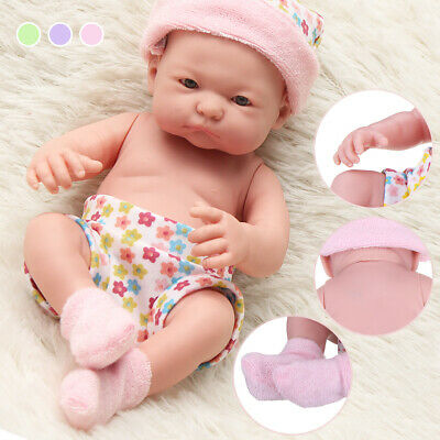 26cm Reborn Toddler Girl Baby Doll Lifelike Soft Silicone Vinyl Newborn Kids Toy