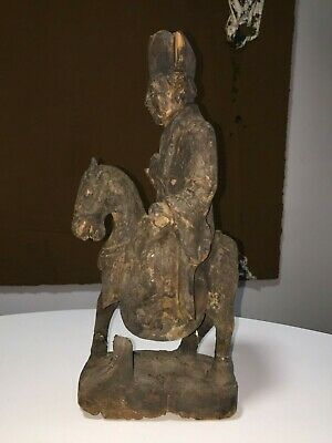 Chinese wooden sculpture of a horse , QING DYNASTY CHINESE  , CHINA