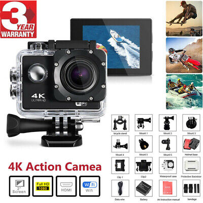 Waterproof Sports Action Camera Wifi Remote Full HD DVR Video Camcorder 4K 1080P