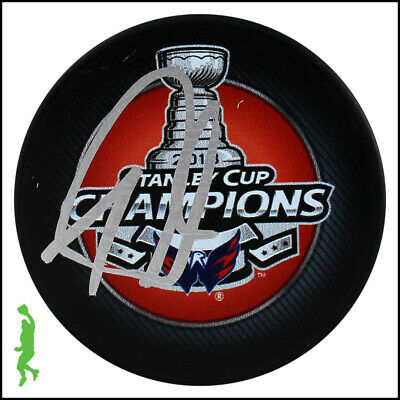 Tom Wilson Autographed Signed 2018 Stanley Cup Champs Puck Capitals Jsa Coa