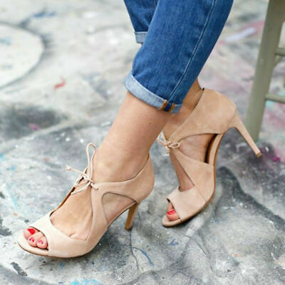 Womens High Heels Open Toe Ankle Strap Ladies Summer Party Dress Shoes Stiletto