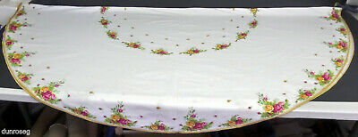 """OLD COUNTRY ROSES ROUND TABLECLOTH, DIAMETER 170cm 67"""", GC, ENGLAND ROYAL ALBERT"""
