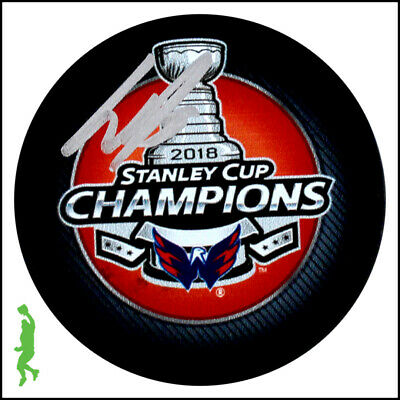 Dmitry Orlov Autographed Signed 2018 Stanley Cup Champs Puck Capitals Jsa Coa
