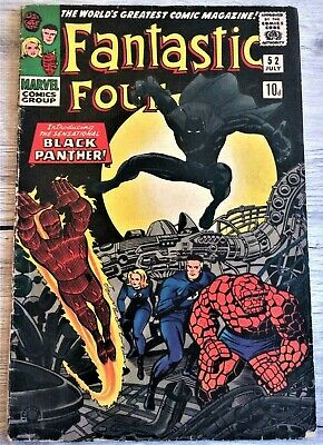FANTASTIC FOUR # 52 July 1966 Marvel comic 1st Black Panther first appearance