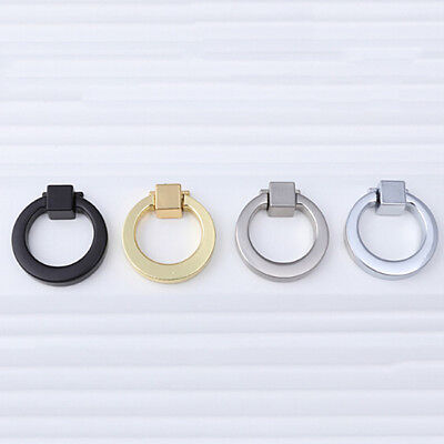 Dresser Knobs Pull Ring Zink Alloy Drawer Cabinet Door Ring Circle Handle FG