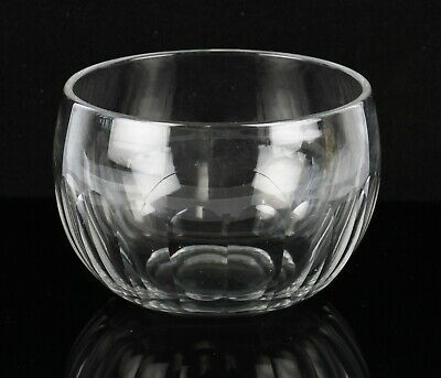 antique 19th Century Victorian glass finger bowl rinser with cut panel design