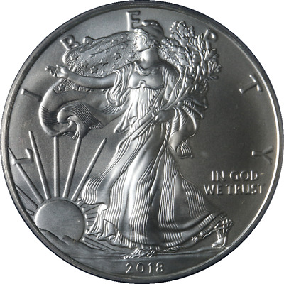 2018 Silver American Eagle $1 PCGS MS70 First Strike Flag Blue Label - Stock